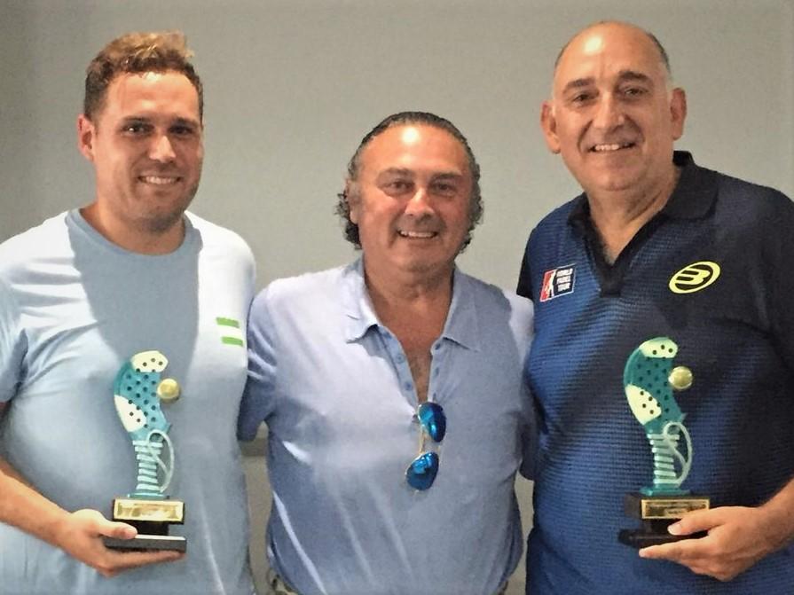Antonio Serrano Rodríguez y Antonio Serrano Panayotti ganadores del I Campeonato de Pádel del CODC