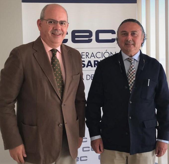 Reunión con el presidente de CEC Cádiz, Javier Sánchez Rojas